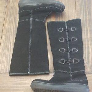 Rocket Dog Black Suede Winter Boots Size 8